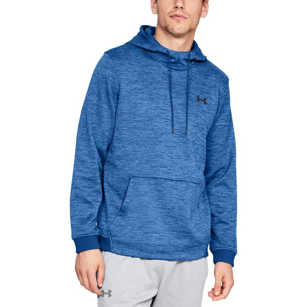 Under Armour Men's Armour Fleece Twist Pull Over Hoodie, Royal (400)/Black, Large