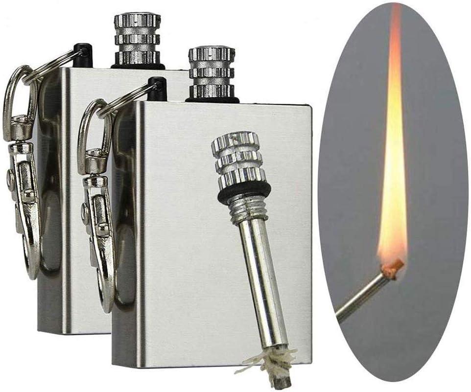 Scoutdoors Permanent Match & Emergency Lighter, Waterproof & Windproof - Stainless Steel Flint Fire Starter Survival Tool