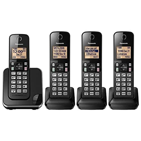 Amazon.com: Panasonic KX-TGC384B Dect 6.0 4 - Teléfono de ...