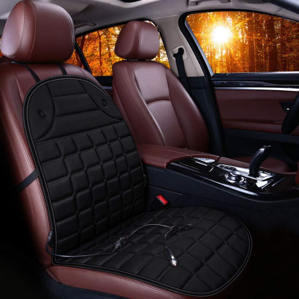 Universal 12V voiture avec 2 niveaux de coussin chauffant pour le dos plein et le siè ge, housse de siè ge chauffé e pour voiture, maison, utilisation chaise de bureau,Black housse de siège chauffée pour voiture 297210