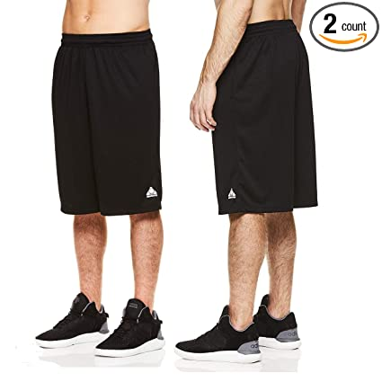 df487534ec Amazon.com : Above The Rim (2 Pack Black Mesh Basketball Shorts Mens Athletic  Shorts Gym Shorts for Workout Sport with Pockets : Clothing