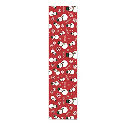 YaYa Cafe Christmas Decorations Table Runner Cloth Cover Merry Christmas Snowman