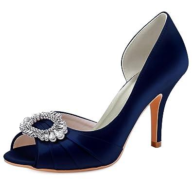 Chaussures de soirée à bout ouvert Elegantpark bleues femme 99zLF9pu