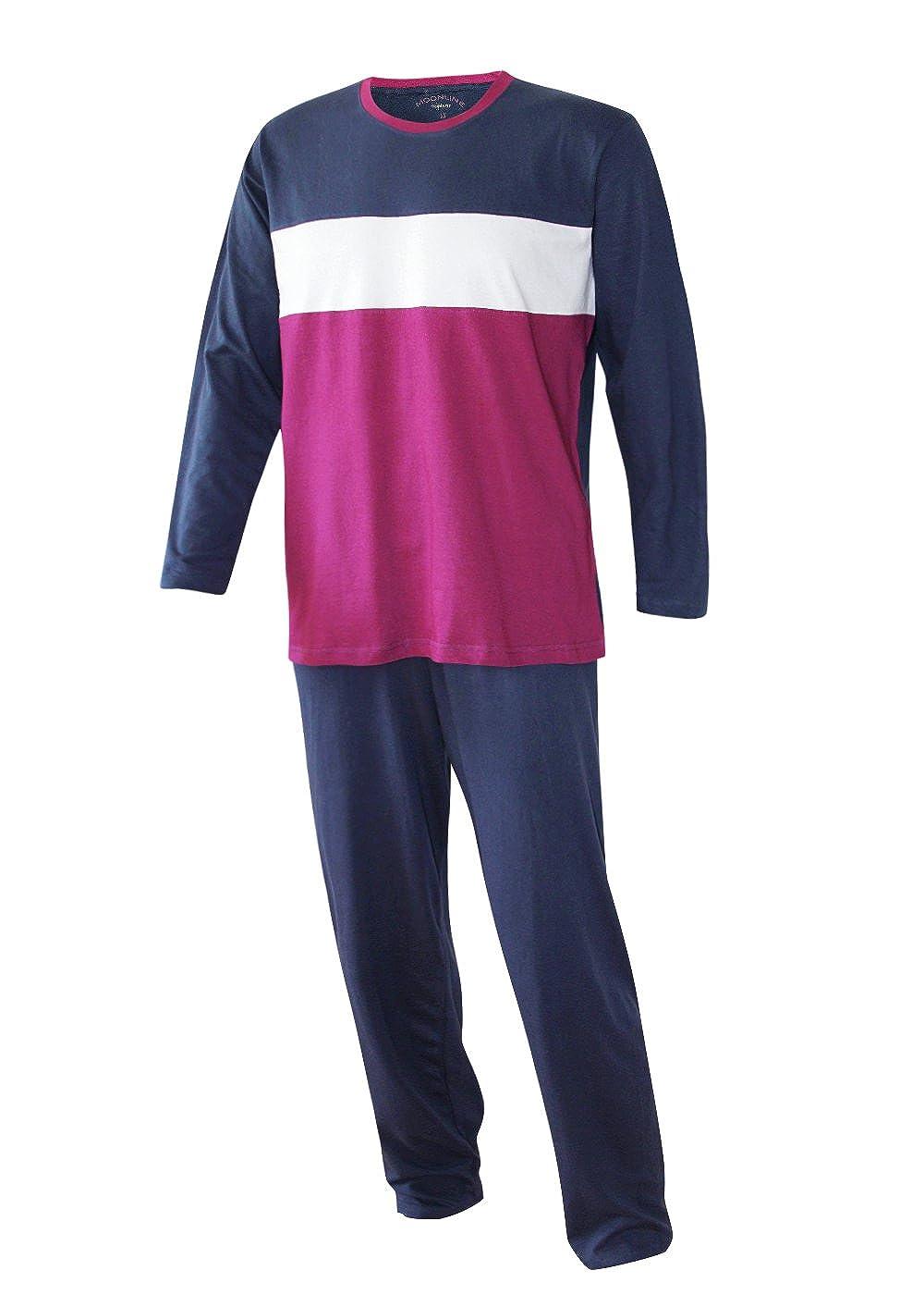 Hochwertiger 2 tlg Damen Schlafanzug Pyjama lang Nachtwäsche Gr.M L NEU