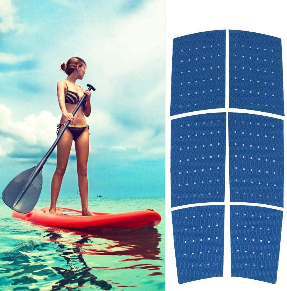 Grip Mat Traktionsmatte Surf Traktionspad rutschfeste Bootsboden Surfboard Pads 6PCS Eva Anti-Rutsch-Volldeck Grip Surfboard Boot Yacht Traktionspad Caredy Boot Decking Sheet