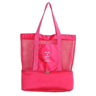 Violet Mist Mesh Beach Tote Lightweight Picnic Outdoor Insulated Cooler Bag