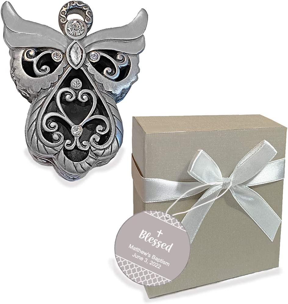 60 Angel Design Curio Boxes Christening Baptism Baby Shower Party Gift Favors