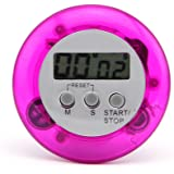 1 X Mini Round Magnetic LCD Digital Cooking Kitchen Countdown Timer Alarm