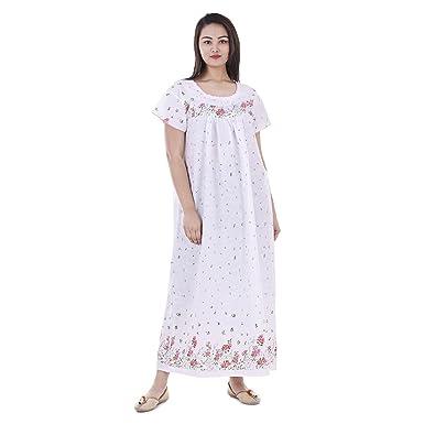 67bc5f3332028 Amazon.com  Women Cotton Night Wear Gown Sexy Nighties Nighty ...