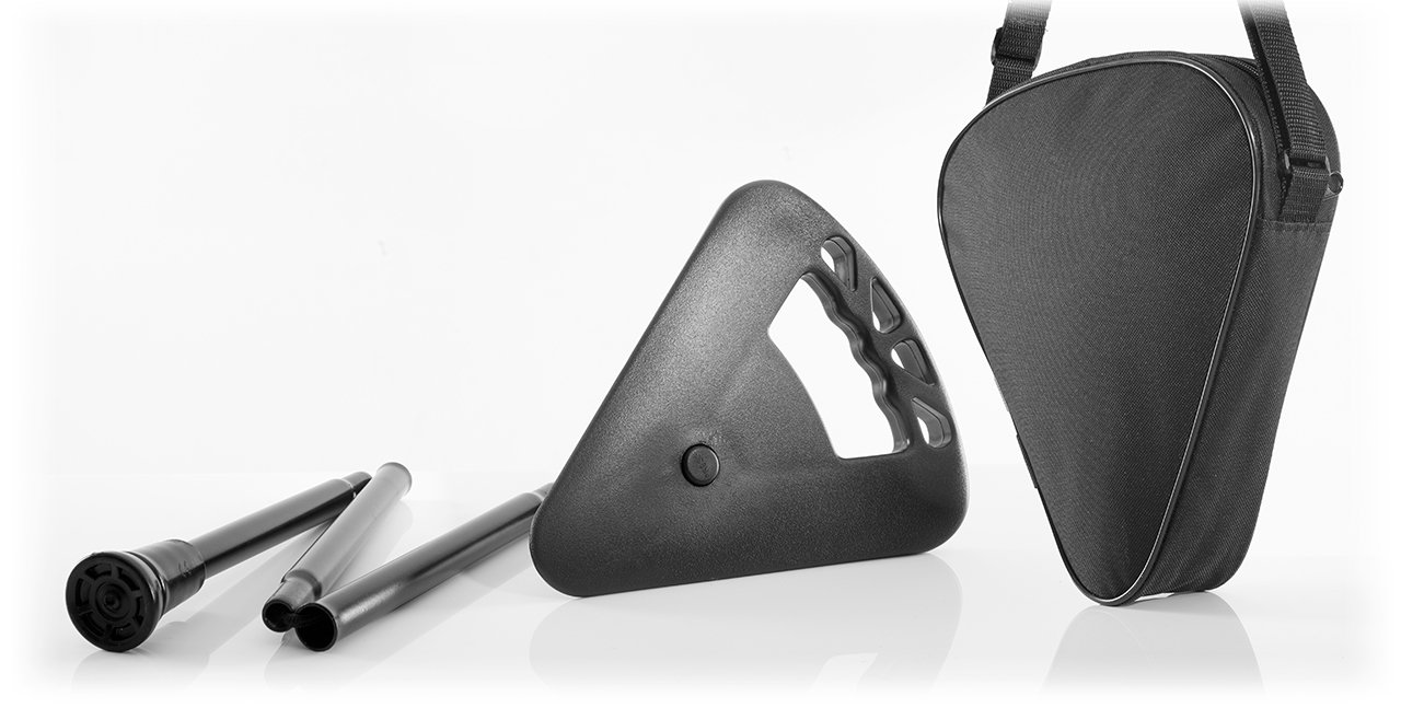 Flipstick Sitzstock schwarz faltbar mit Tasche 7703-s
