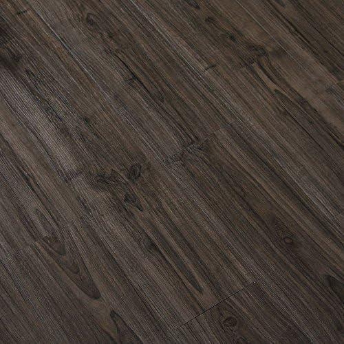 ケイ・ララ フロアタイル 貼るだけ 木目調 シール [スモーク] お試しサンプル フローリング タイル 床材 シート ウッド 接着剤不要 DIY セルフリフォーム ブルックリンスタイル y3