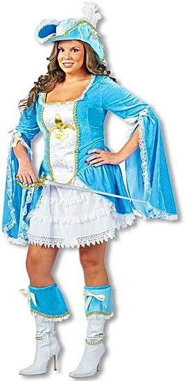 Sexy Disfraz Mosquetero Turquesa Tallas Grandes: Amazon.es ...