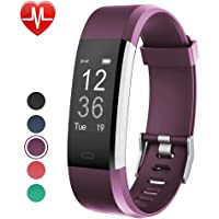 YAMAY Fitness Tracker Fitness Watch Smart Watch Activity Tracker with Heart Rate MonitorSleep Monitor Step Counter 14 Sports TrackerIP67 WaterproofSlim Pedometer Watch for Men Women Kids (Purple)
