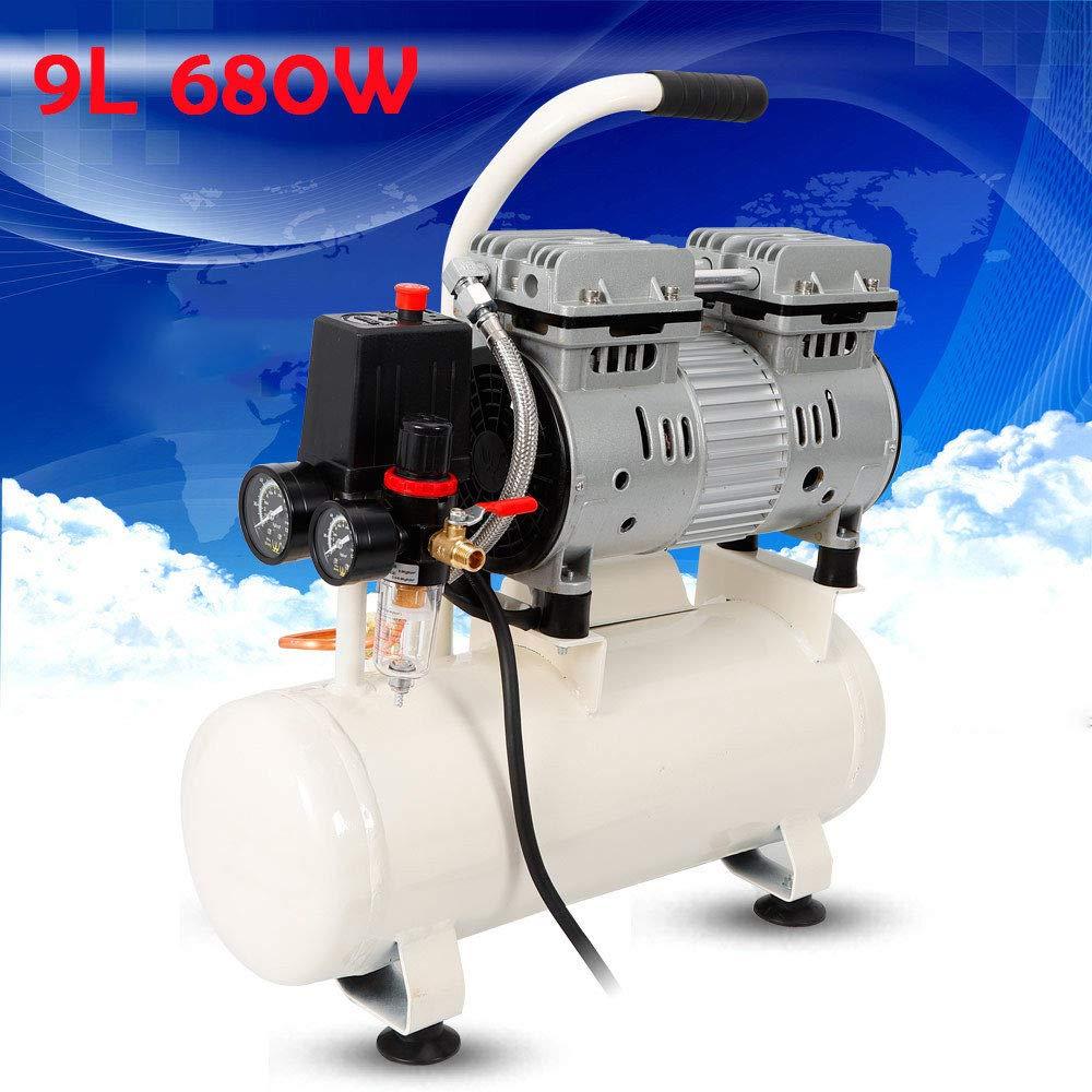 Z&Y 1400rpm 680W Susurro compresor silencioso compresor de aire comprimido de aire comprimido 9L: Amazon.es: Bricolaje y herramientas