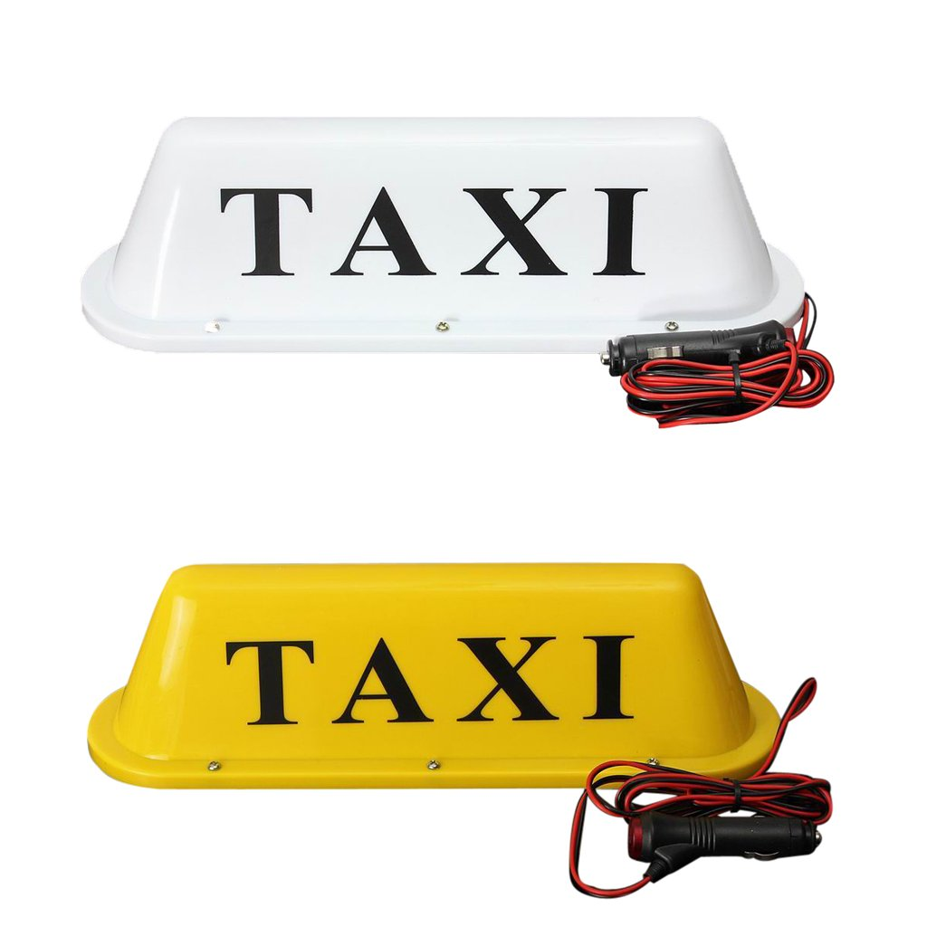 Baosity Taxi Cab Roof Top Sign Lamp Waterproof Car Magnetic Base White