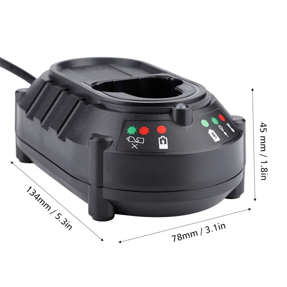 EU-Stecker Ladeger/ät /mit LED-Kontrollleuchte 10.8V 12V Ladeger/ät f/ür Makita Lithium Batterien 100-240V DC10WA DF030D