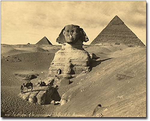 The Sphinx & Two Pyramids Egypt 1867 8x10 Silver Halide Photo (Egypt Pyramids Picture)