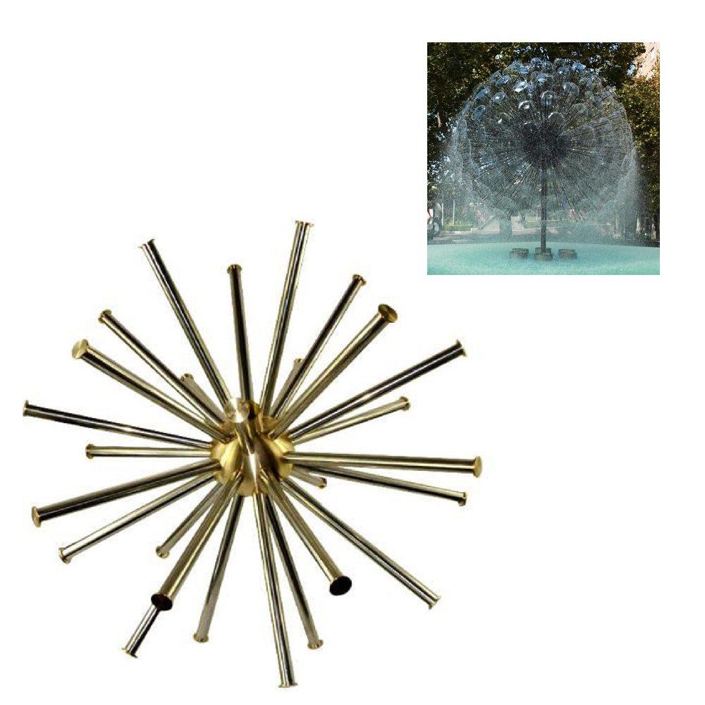NAVA Brass Hemisphere Dandelion Peacock Tail Fountain Nozzle Spray Pond (1 1/2'' DN40)