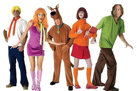 Halloween Group Costumes.Amazon Com Futurememories Adult Scooby Doo Group Costume