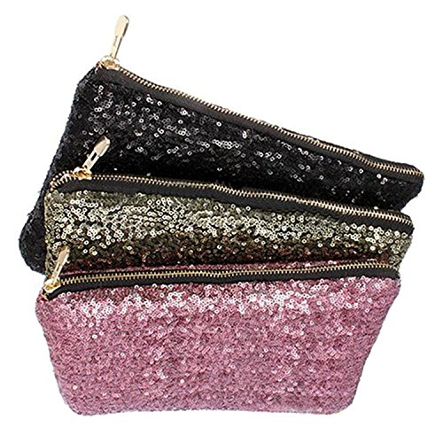 Sparkling Clutch Sequins Glitter Bling Bag Black Dazzling Bluelans Handbag Evening Party PqxwUU