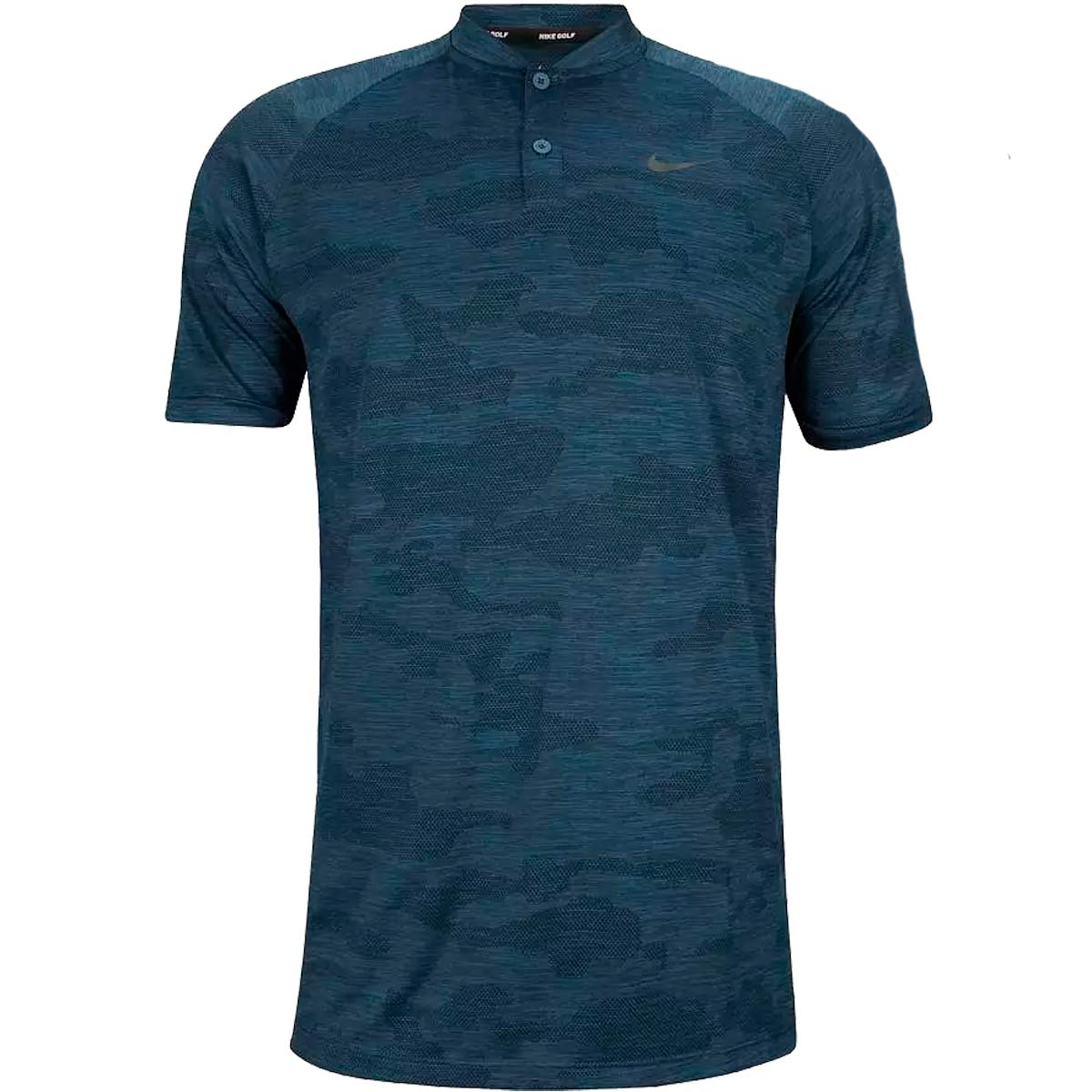 Nike Golf TW Tiger Woods Vapor Zonal Cooling Camo Polo 932390 (Small, Gym Blue)