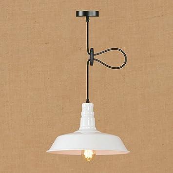 XSPWXN Luces colgantes de techo E27 1-Lámpara Hierro ...