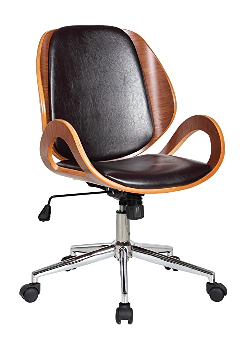 Awesome Amazon Com Boraam Mira Desk Chair Brown Kitchen Dining Ncnpc Chair Design For Home Ncnpcorg