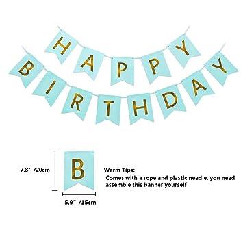 Amazon com: ASIDIY Happy Birthday Bunting Banner with Shiny