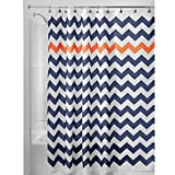 Burnt Orange Curtains InterDesign Chevron Soft Fabric Shower Curtain, 72