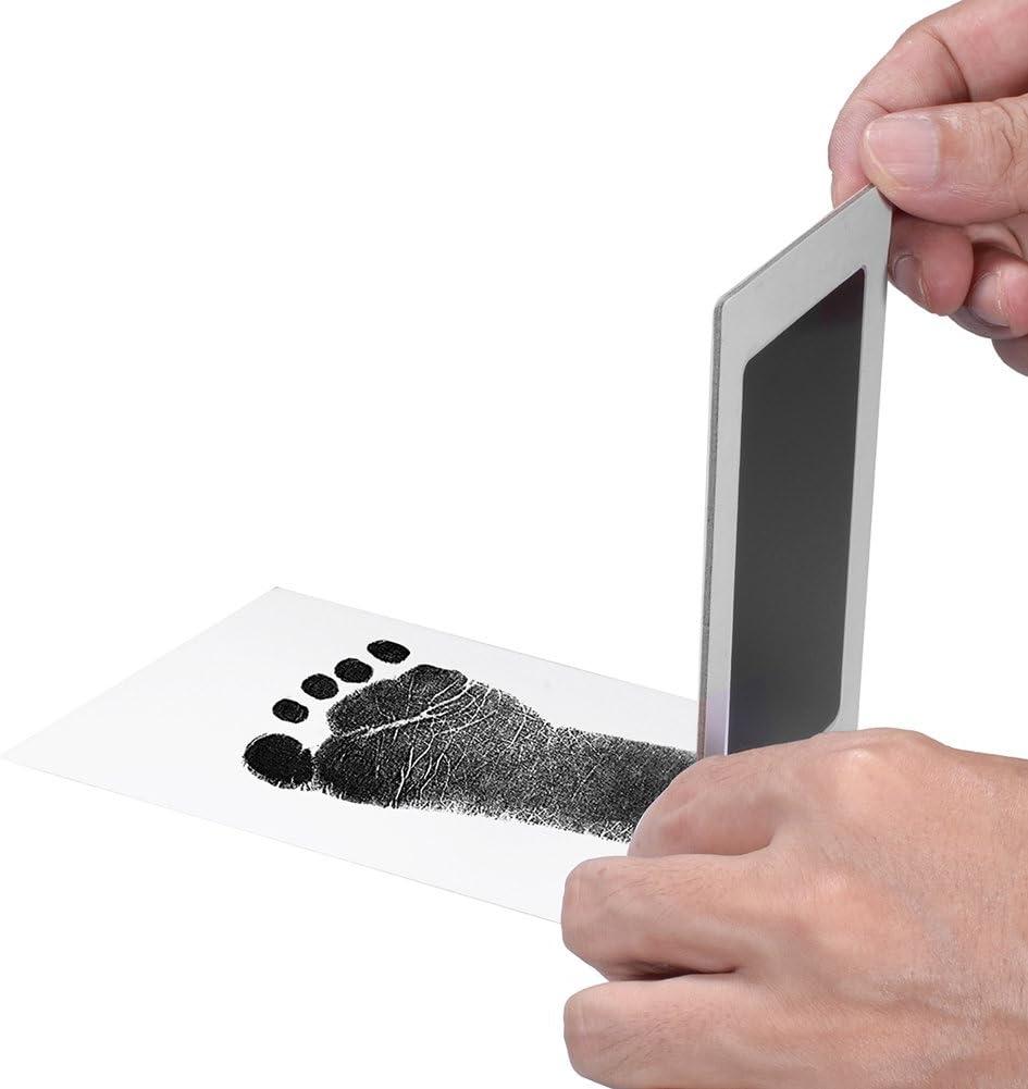 No-T/óxico para Reci/én Nacidos de 6-12 Meses para Ni/ñas y Ni/ños PChero 6 Pack Beb/és Almohadillas de Tinta para Huellas de Manos y Pies Clean-Touch