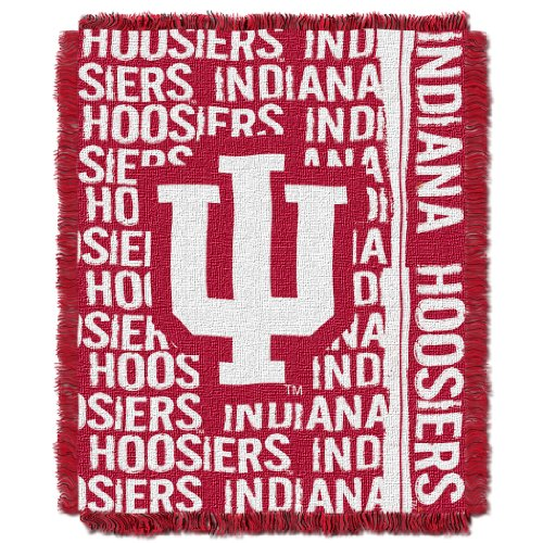 The Northwest Company Officially Licensed NCAA Indiana Hoosiers Double Play Jacquard Throw Blanket, 48