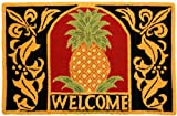 Homefires Accents Welcome Pineapple 23-Inch by 44-Inch Indoor Rug