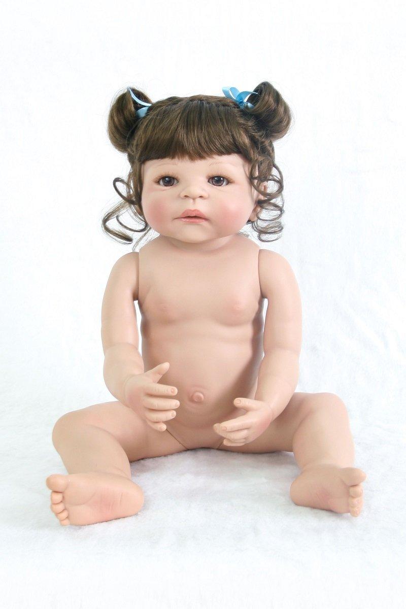 KEIUMI KEIUMI KEIUMI Lovely Princess Reborn Baby Twins Mädchen 58,4 cm/57 cm Full Silikon Vinyl Neugeborene Puppen Schwestern mit magnetischer Schnuller Kinder Geburtstag Xmas Geschenk 458fb3