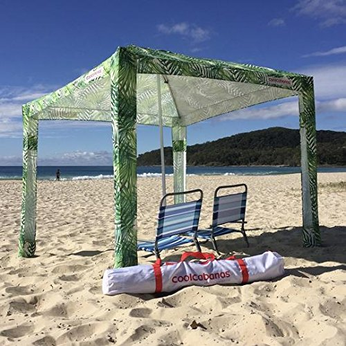 New Cool Cabanas UPF 50 cotton poly canvas, providing 50+ UV protection,8 pockets - UNDER THE PALMS