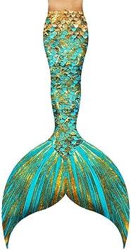 Filles Queue de Sir/ène Maillot de Bain /Ét/é Enfant Bikini Swimsuit Mermaid Cosplay Costume 3 Pi/èces Ensembles