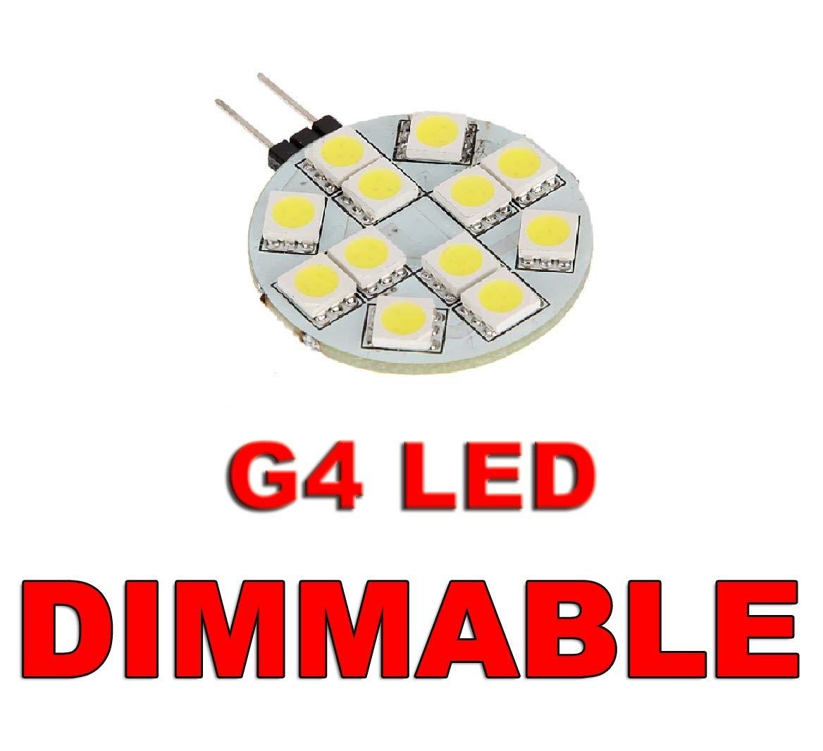 /caravane Bateau camping-car de cuisine Maison camping-car Ampoule LED /à intensit/é variable G4/Slide broches 12/V 12smd 5050/rond Cercle Blanc Lumineux/