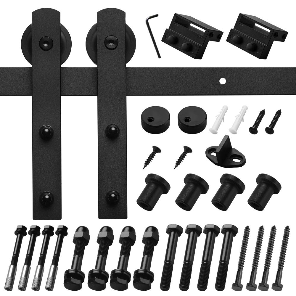 I Shape Hangers Black Fit 1 3//8-1 3//4 Thickness Door Panel Homlux Compatible with All Sliding Barn Door Hardware Hangers Rollers 2pcs