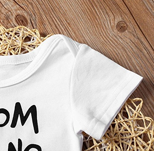 SWNONE Newborn Infant Baby Girls Boy Short Sleeve Cotton Romper Jumpsuit Bodysuit Kids Clothes Outfit (White, 0-3 Months)