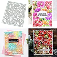 Hukai Blossom Frame DIY Metal Cutting Dies Stencil Scrapbooking Album Stamp Paper Card Art Crafts Decor,Good Gift for Your Kids to Cultivate Their Hands-on Ability