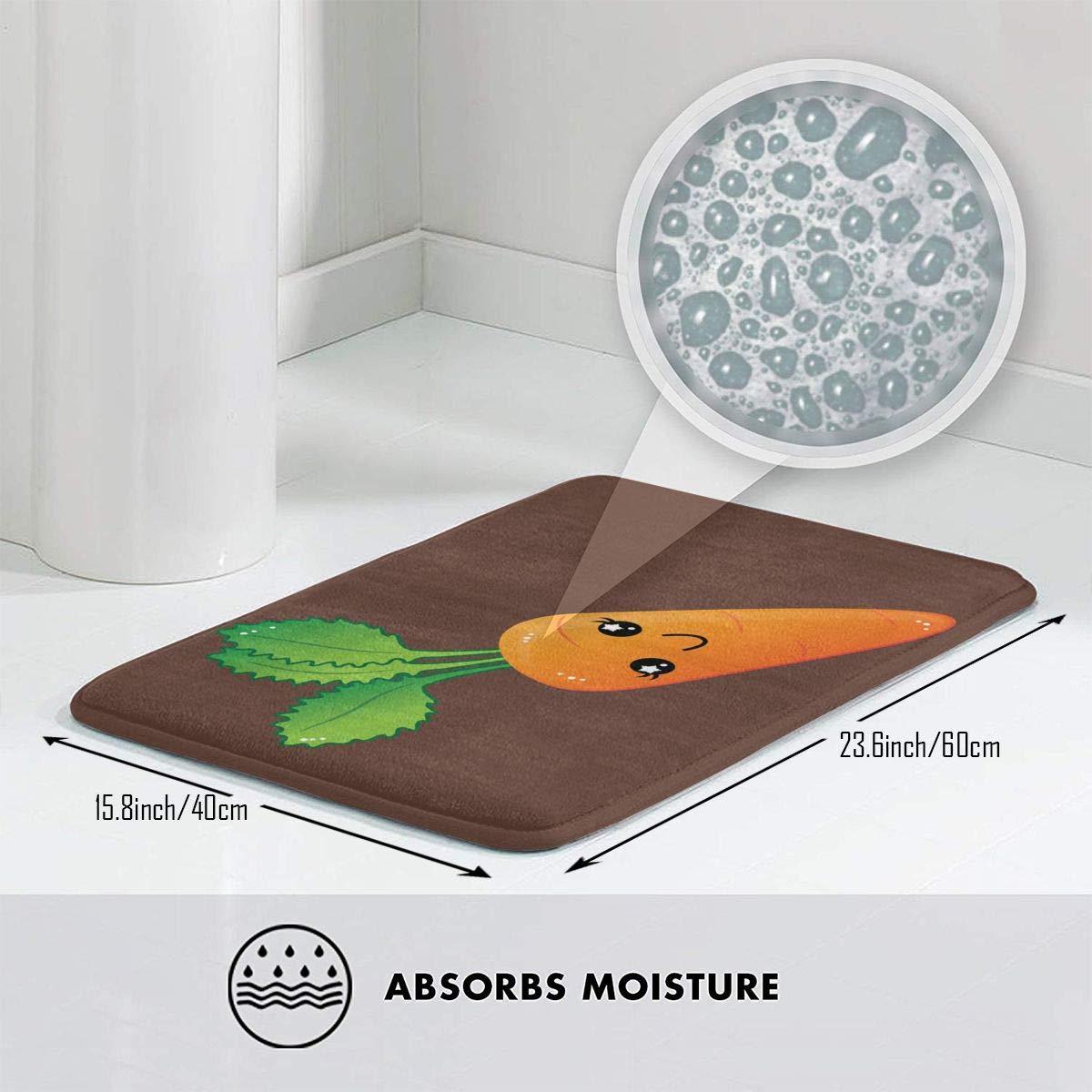 15.75 X 23.62 Warm-Tone Africa Zoo Animals Memory Foam Bath Mat Non-Slip Absorbent Super Cozy Soft Velvet Bathroom Rug Carpet