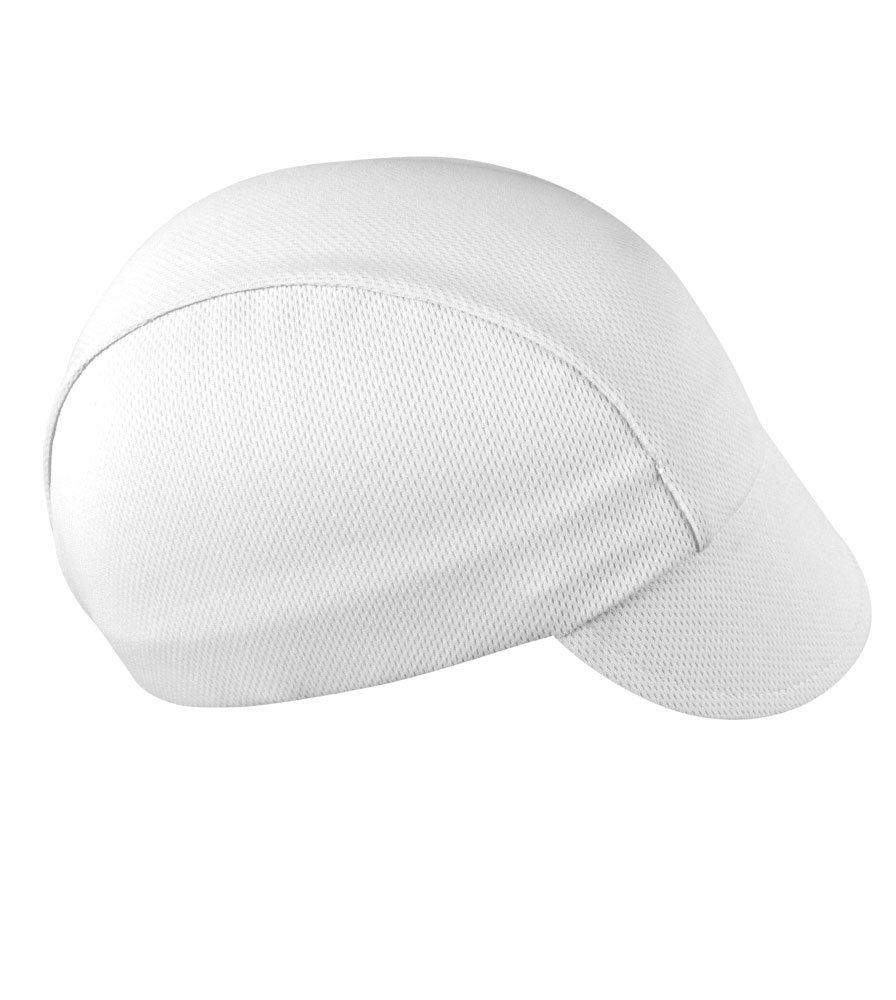 White Cycling Cap - Made in the USA