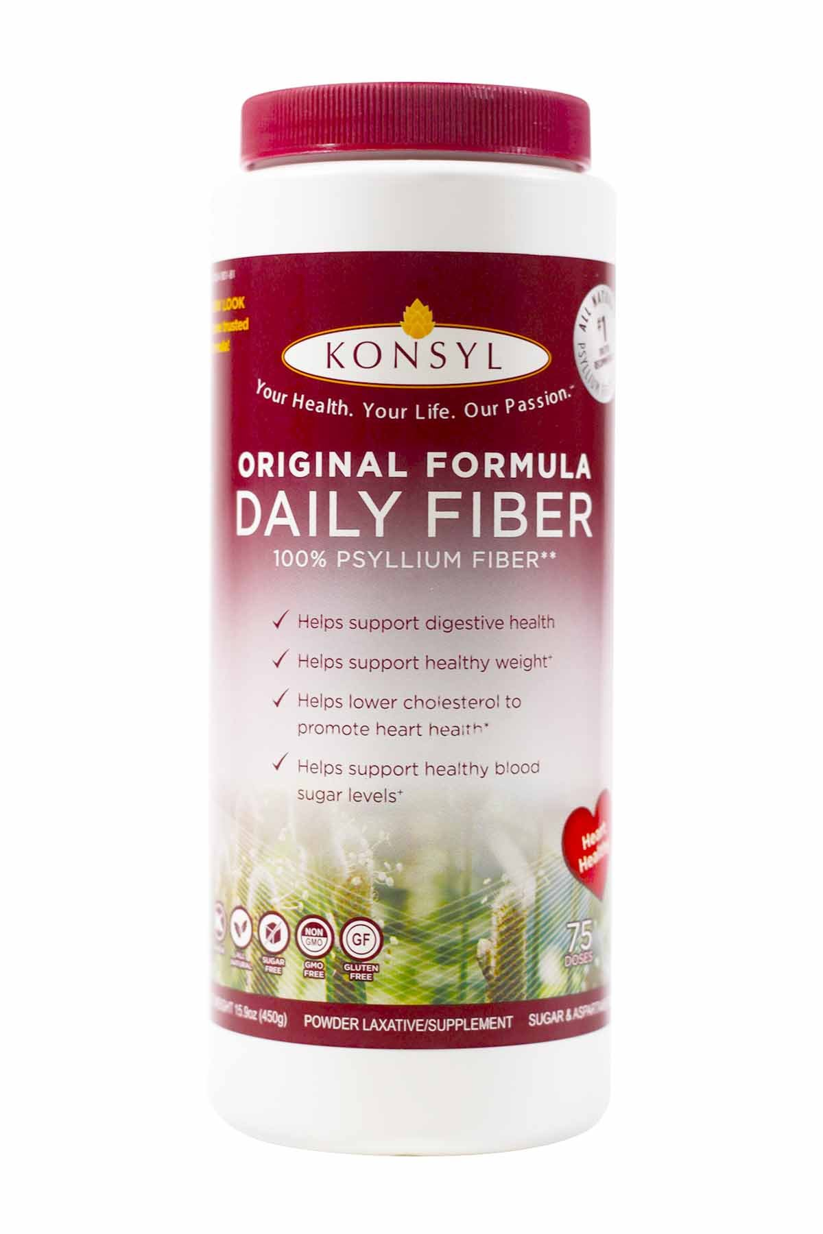 Konsyl Original Formula Psyllium Fiber 15.9 oz (Pack of 3) by Konsyl (Image #1)