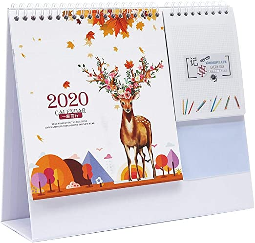 Calendario de Mesa 2020 Calendario Divertido Calendario semanal ...