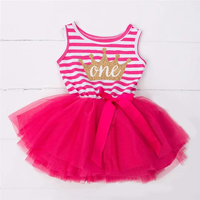 Chitop 1 Year Baby Girl Dress Princess Girls - Tutu Dress Tolldler Kids Clothes Baby Baptism