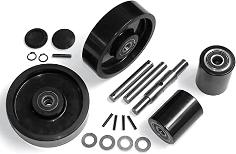 Details about  /Lift-Rite L-55 Pallet Jack Load Wheel Kit with 2 Rollers Axles and Hardware
