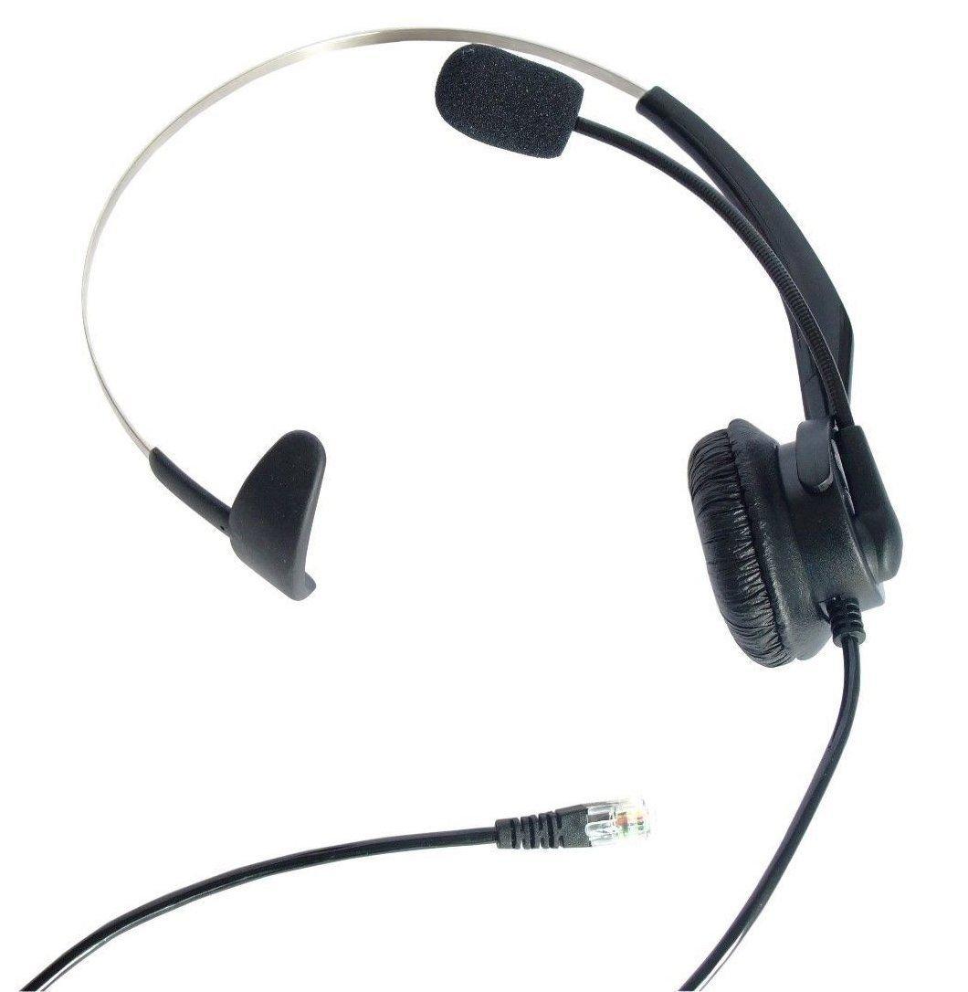 fivetech Call Center Headset mit RJ9 Anschluss für 3 Com Nortel NEC ...