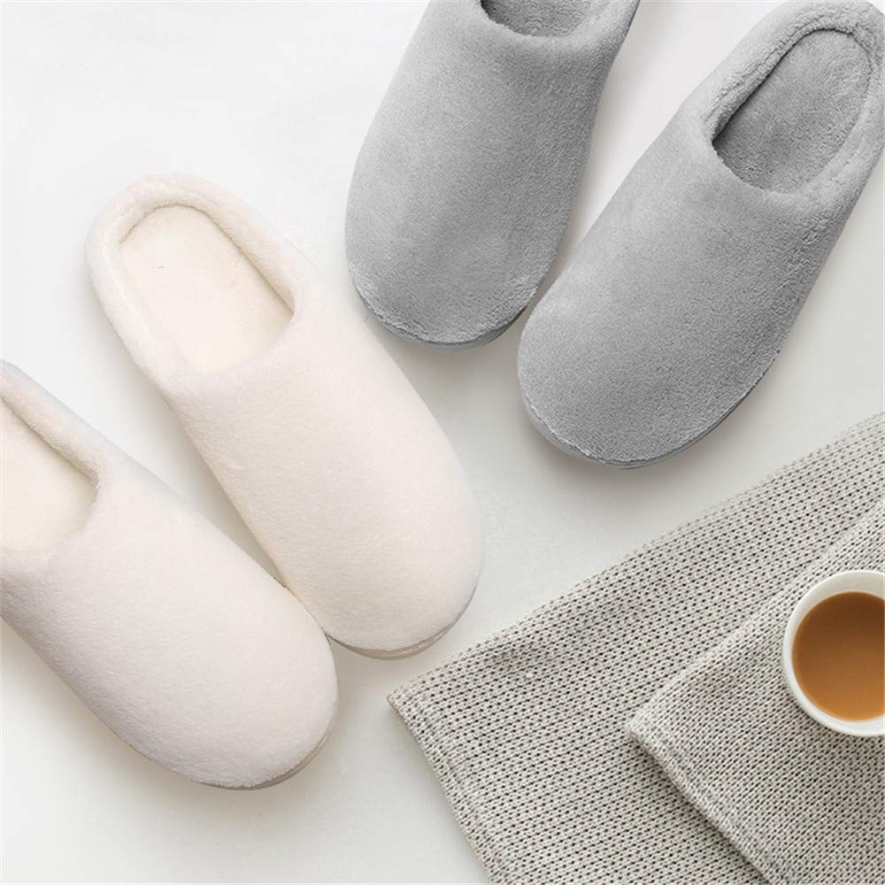 Aimeely Women Classic Cozy Plush Winter Warm Pure Color Home Indoor Slippers