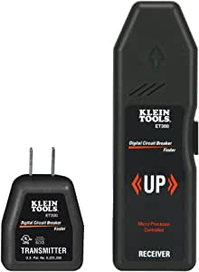 Klein Tools ET300 Circuit Breaker Finder / Receptacle Tester Finds Electrical Circuit Breaker of 120V Standard Electrical Outlet