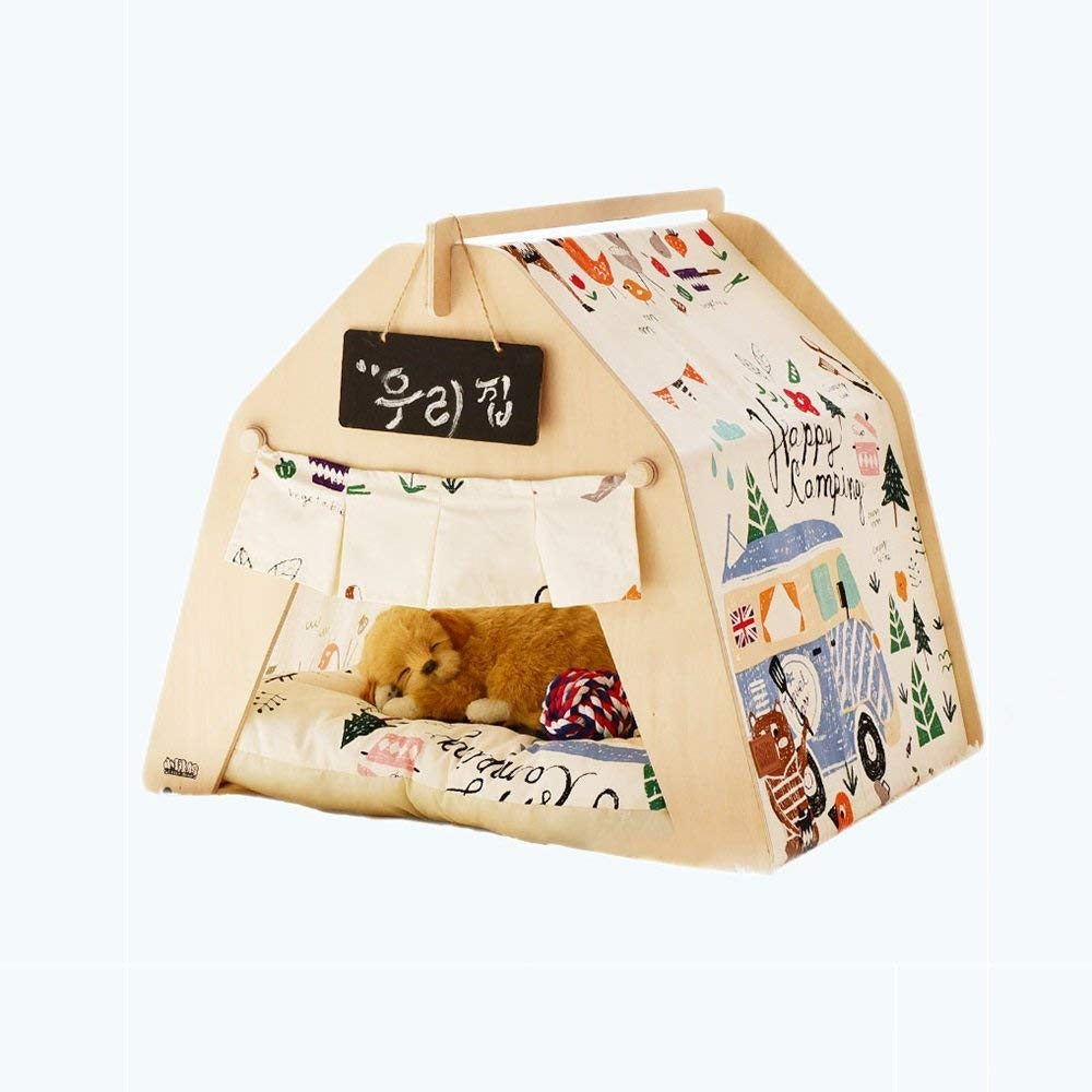 6 Small 6 Small Pet Bed Pet Tent Cute Beautiful Pet Bed Small Dog Pet House Removable and Washable Pet Supplies Autumn and Winter Thick Mat (color   06, Size   Small)