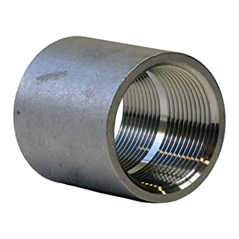 """Stainless Steel 304 Cast Pipe Fitting, Coupling, Class 150, 1/2"""""""